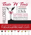 TASTE AND TOAST THIS HOLIDAY SEASON AT THE HILLCREST TASTE N' TINIS