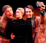 Tony Houck (Steven), Jacque Wilke ( Hedda) and Luke Jacobs (Patrick) in  The Further Adventures of Hedda Gabler. © Ken Jacques