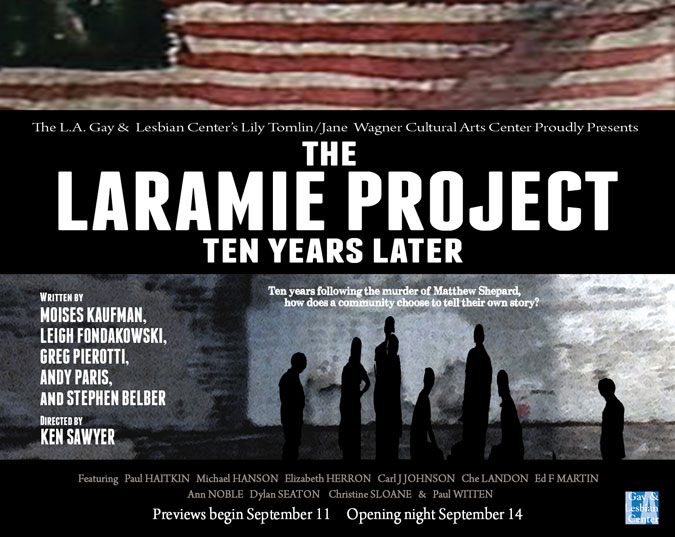 themes the laramie project The seeing place to open the laramie project june 13 (via broadway world) celebrate gay pride with ex-gay minister (via adversity and diversity) lgbt author leslea newman in a public talkback on bullying and hate crimes (via indie it press.
