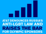 AT&T CONDEMNS ANTI-LGBT LAW IN RUSSIA, SETS EXAMPLE FOR OTHER OLYMPIC SPONSORS