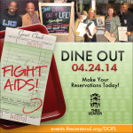 DINING OUT FOR LIFE: SERVING UP LIFE SAVING