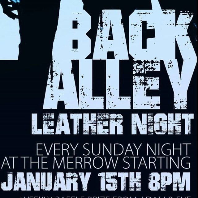 Back Alley Leather Night every Sunday in Hillcrest at thehellip