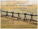 A World Premiere Musical Event: OCTOBER MOURNING - A Song for Matthew Shepard