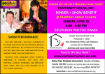 FRATERNITY HOUSE, INC. DINNER + SHOW: Honoring 26 Years of Providing Housing + Care for Homeless People Living With HIV/AIDS.