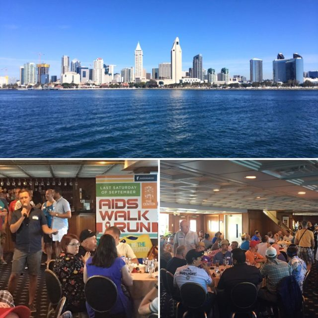 Great afternoon on the bay at the San Diego AIDShellip