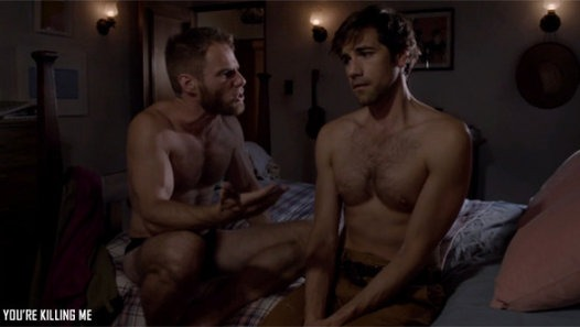 Threesome gay sex pictures
