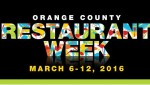 ORANGE COUNTY RESTAURANT WEEK 2016