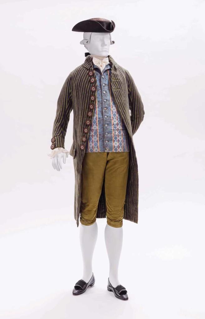coat, vest & breeches. france, c1790 lacma collection