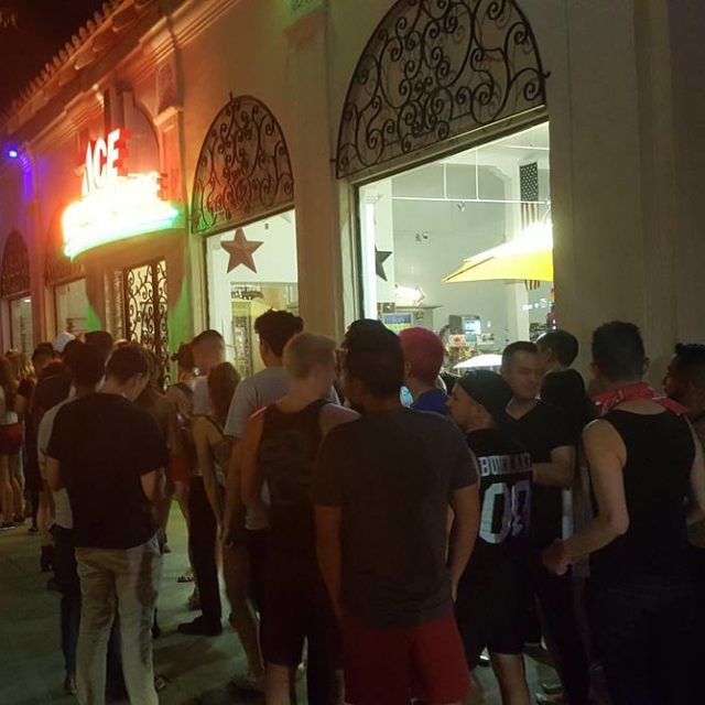 The line to get into FlicksSD on Pride Friday nighthellip