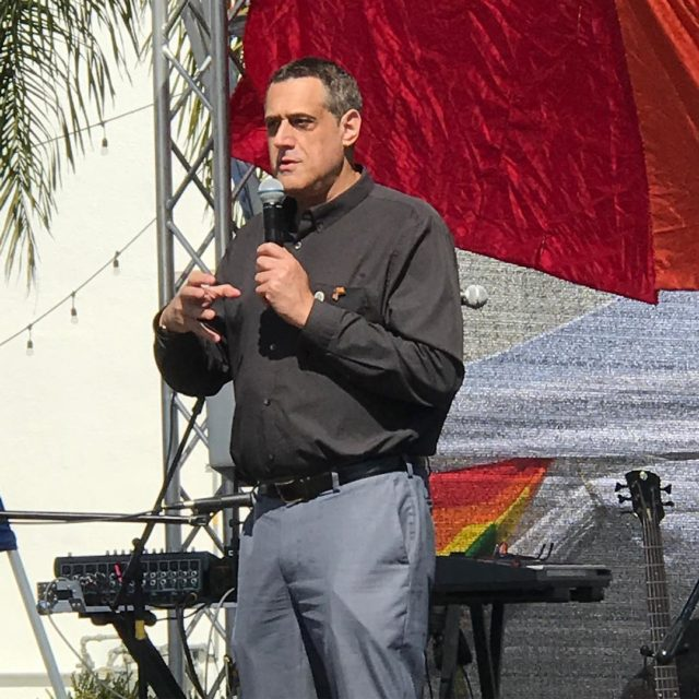 Thanks Stuart Milk todays guest speaker at pridebythebeach in Oceanside!