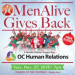 MenAlive Gives Back: A Benefit Concert in Santa Ana
